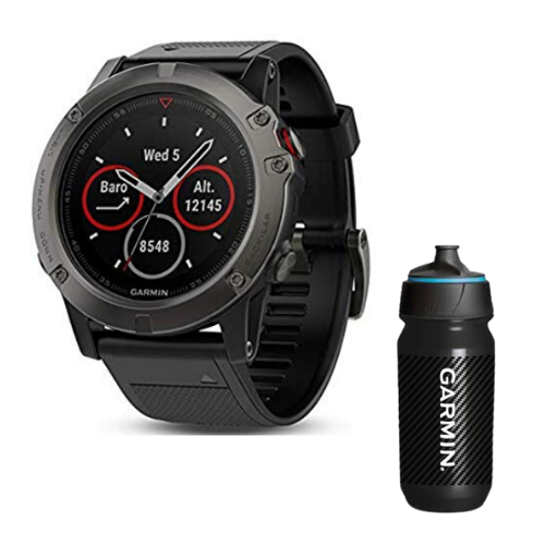 [INN03415] Combo SmartWatch Garmin Fenix 5X Zafiro + Botella Garmin Carbon 500 ML