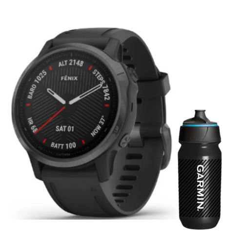 [INN03418] Combo SmartWatch Garmin Fenix 6S Zafiro + Botella Garmin Carbon 500 ML