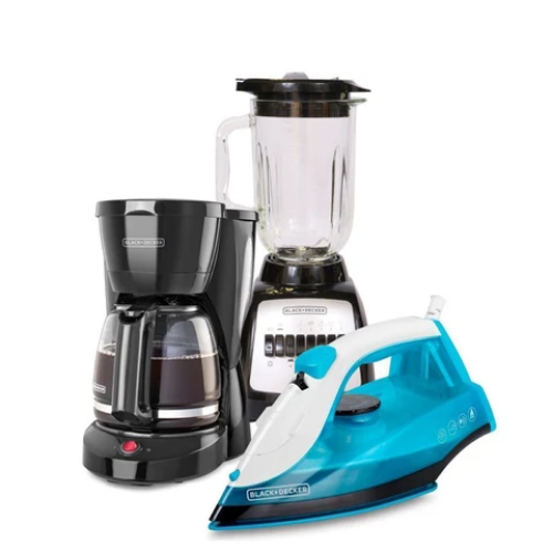 [INN03974] Combo Black&Decker Plancha + Licuadora + Coffee Maker CBBD1726