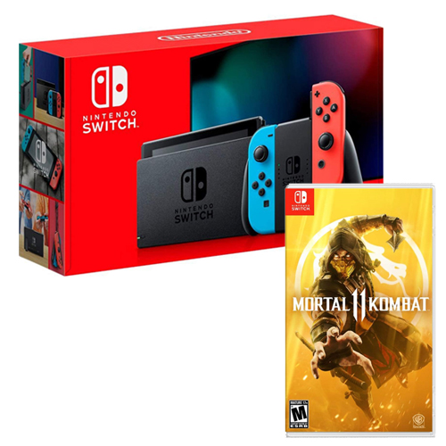 [INN0437] Combo Consola Nintendo Switch 2.0 Nueva Versión + Mortal Kombat 11 Switch