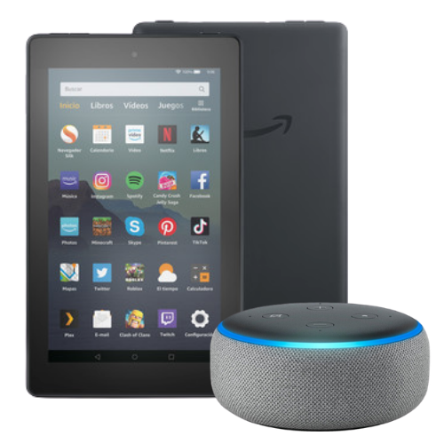 [INN01380] Combo Tablet Fire 7 Amazon + Parlante Inteligente Amazon Echo Dot