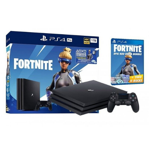 [INN01397] Consola Sony PlayStation 4 Pro 1 TB Fortnite Edition + Juego Fortnitr Neo Versa Bundle 2000 V Bucks