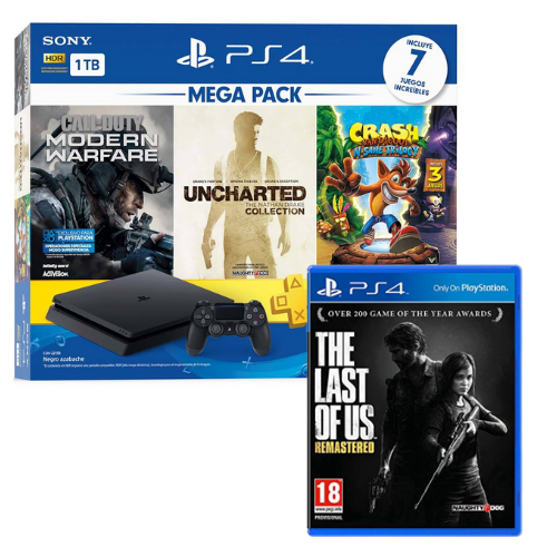 [INN0700] Consola Sony PlayStation 4  Mega Pack 2 + Juego The Last of Us Ps4