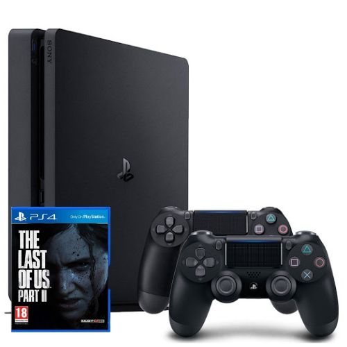 [INN01618] Combo Consola Sony PlayStation 4 Slim 1TB+ Dos Controles + Juego Sony The Last Of Us Part II Playstation 4