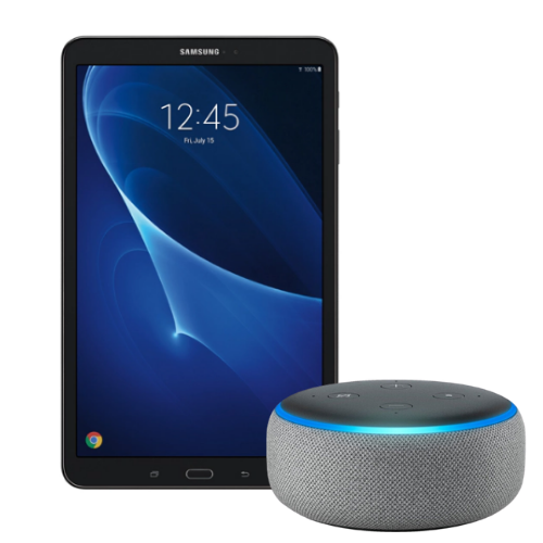 "[INN01675] Combo Tablet Samsung Tab A 10.1"" + Altavoz Inteligente Amazon Echo Dot Alexa 3 Generación"